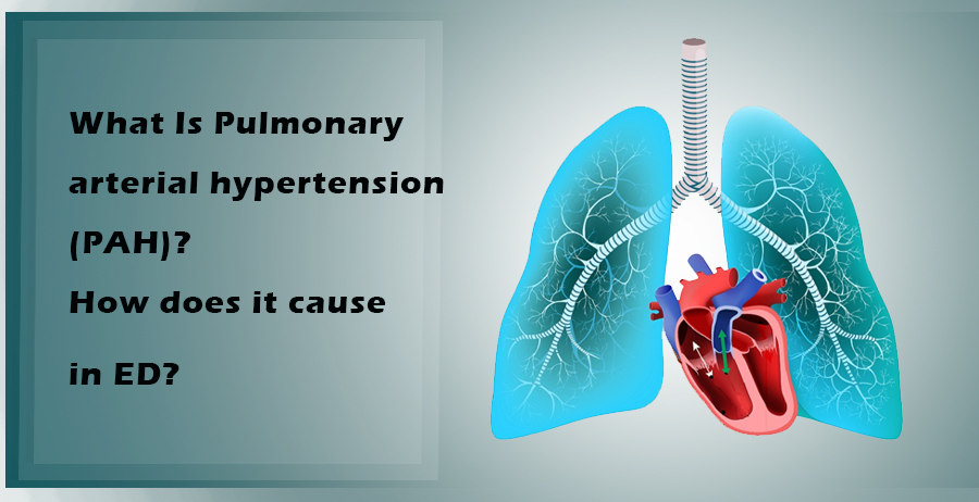 What is Pulmonary Arterial Hypertension (PAH)? How does it cause in ED?